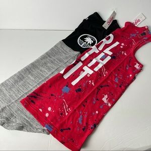 Justice tank top bundle of 2 graphic tanks NWT